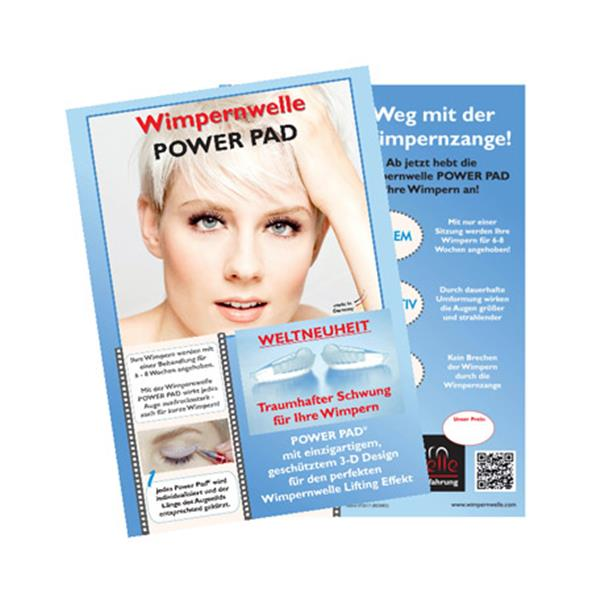 Kundenflyer Wimpernwelle Lifting POWER PAD®, A5, 1 Stk.: D