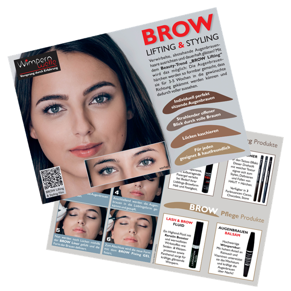 Kundenflyer BROW Lifting, A5, 1 Stk.: D