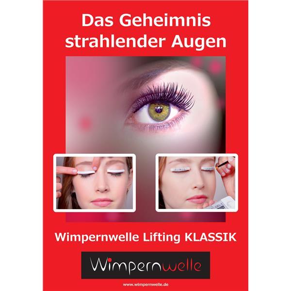 Banner Wimpernwelle KLASSIK, A0, D